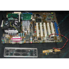 Материнская плата Asus P4PE (FireWire) с процессором Intel Pentium-4 2.4GHz s.478 и памятью 768Mb DDR1 Б/У (Благовещенск)